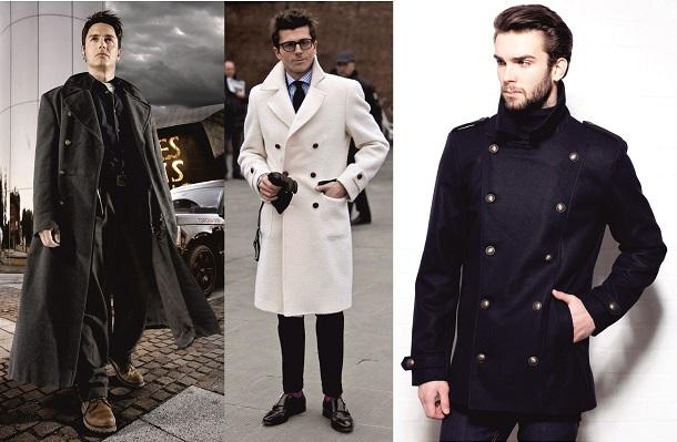 Белое мужское пальто фото