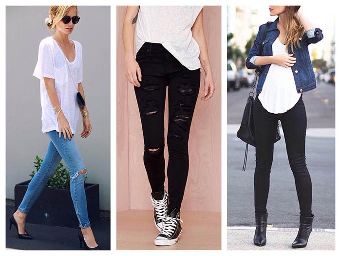 Модные джинсы скинни фото