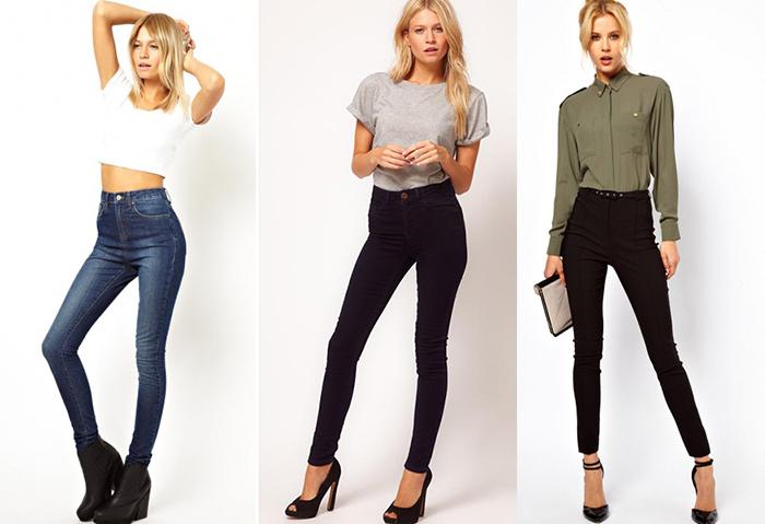 Классические джинсы скинни фото