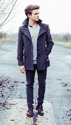 Мужское пальто под ботинки фото
