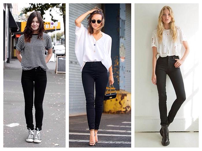 Тёмные джинсы skinny фото
