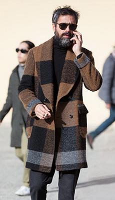 Мужское пальто средней длинны фото