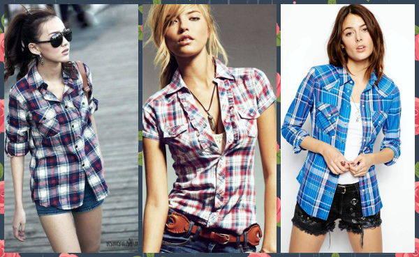 Как носить клетчатую рубашку фото