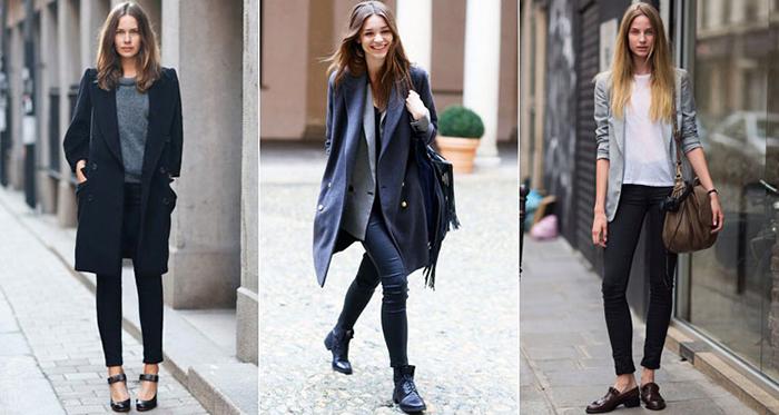 Как носить черные носить черные джинсы скинни фото