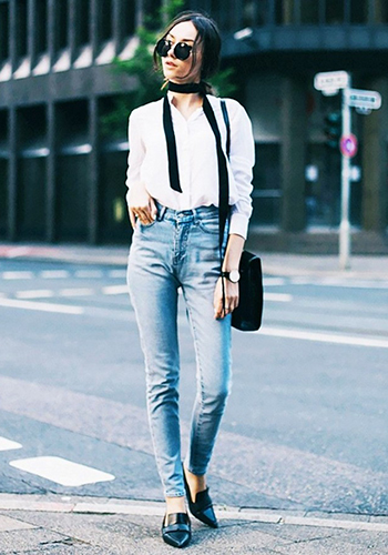 Узкие джинсы скинни весной фото