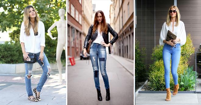 Узкие джинсы с ботинками фото