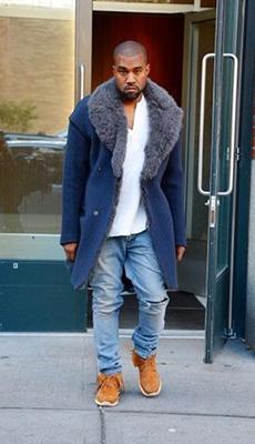 Мужское пальто с меховой оторочкой фото