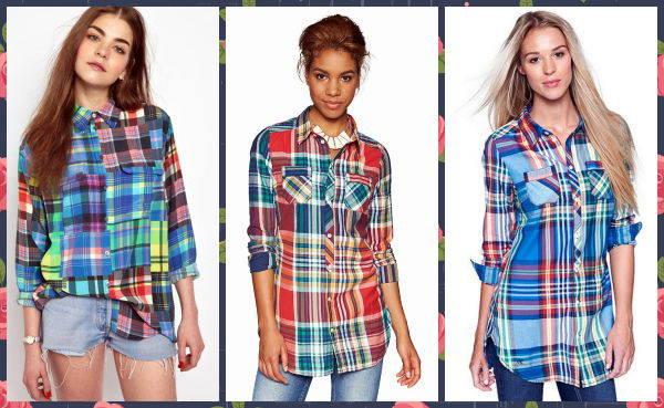Стильная клетчатая рубашка для женщин фото