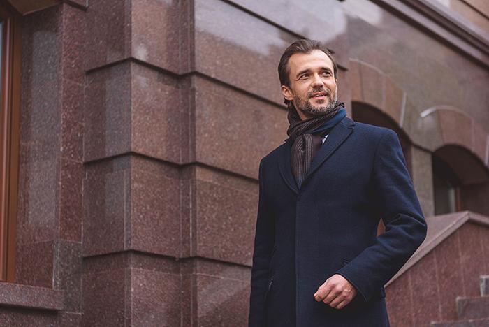 Мужское пальто зимой фото
