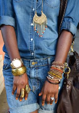 Аксессуары под джинсовую рубашку фото