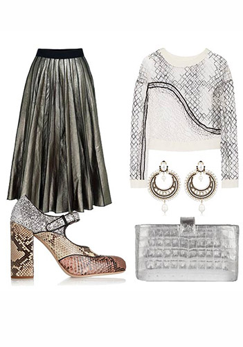 Туфли под блестящую юбку фото