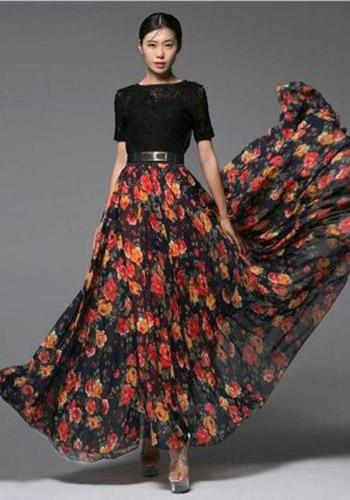Роскошная юбка солнце фото