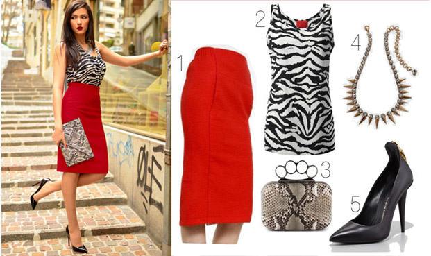 Обувь под красную юбку фото