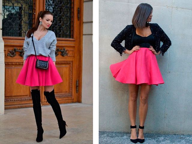 Ярко-розовые юбки солнце фото