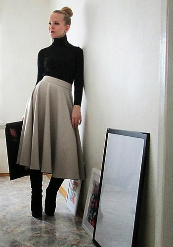 Тёплая юбка солнце фото