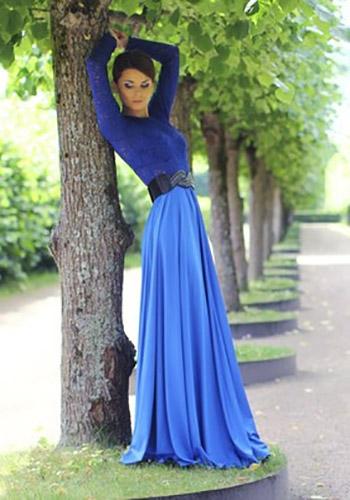 Голубая юбка солнце фото