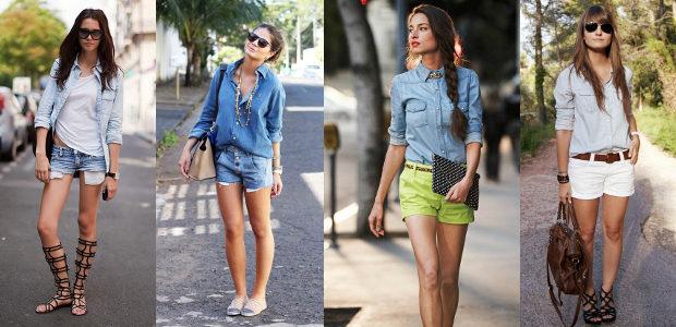Лёгкая джинсовая рубашка фото