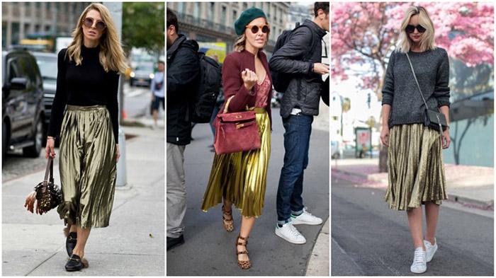 Модели золотистых юбок фото