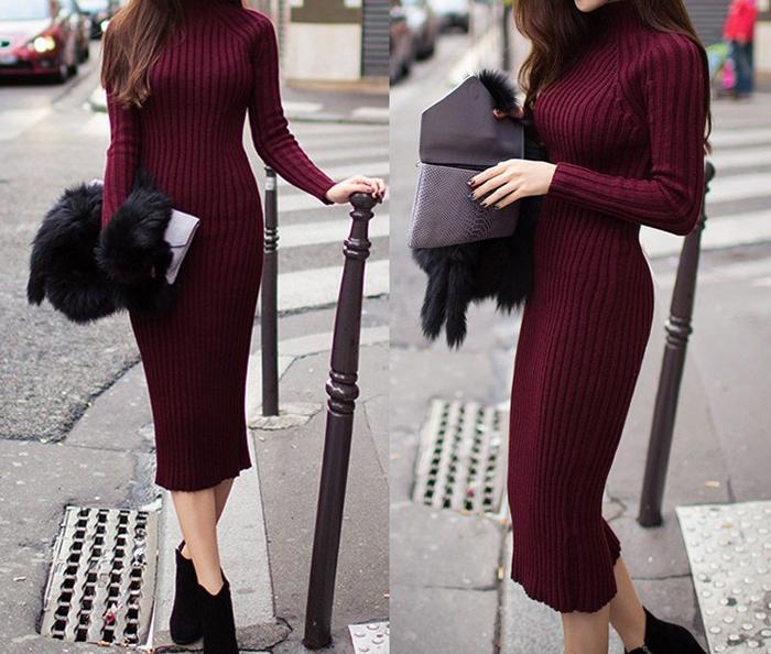 Бордовое платье лапша фото