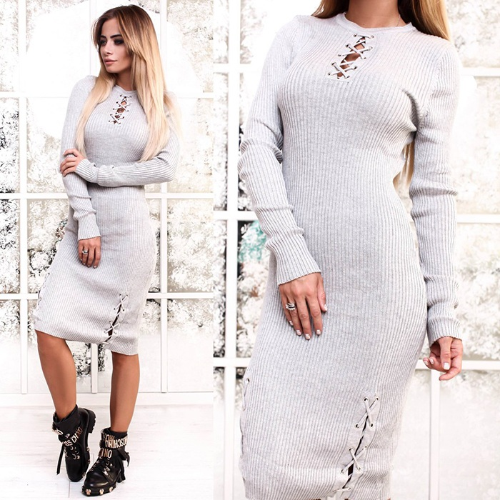 Платье-лапша белого цвета фото