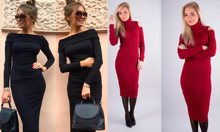 Стильные модели платьев лапша фото