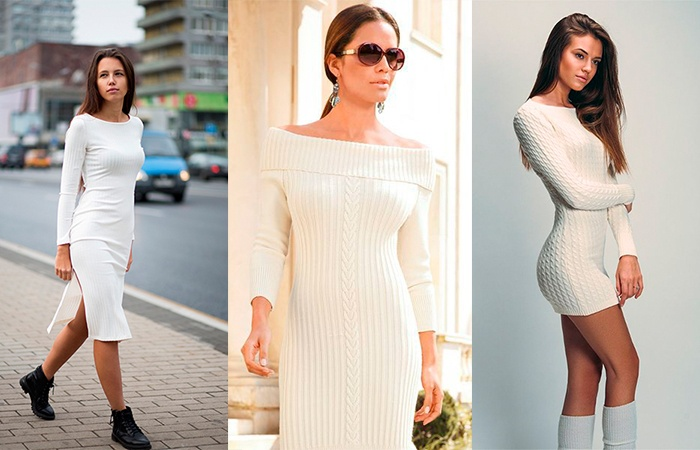 Белое платье лапша с открытыми плечами фото