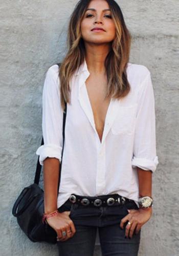 Белая рубашка на каждый день фото