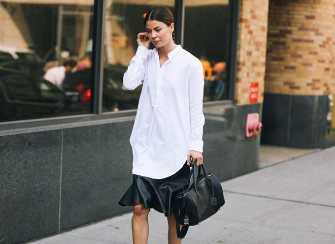 Белая рубашка на выпуск фото
