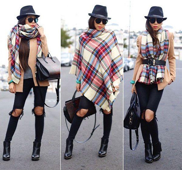 Как модно завязать палантин фото