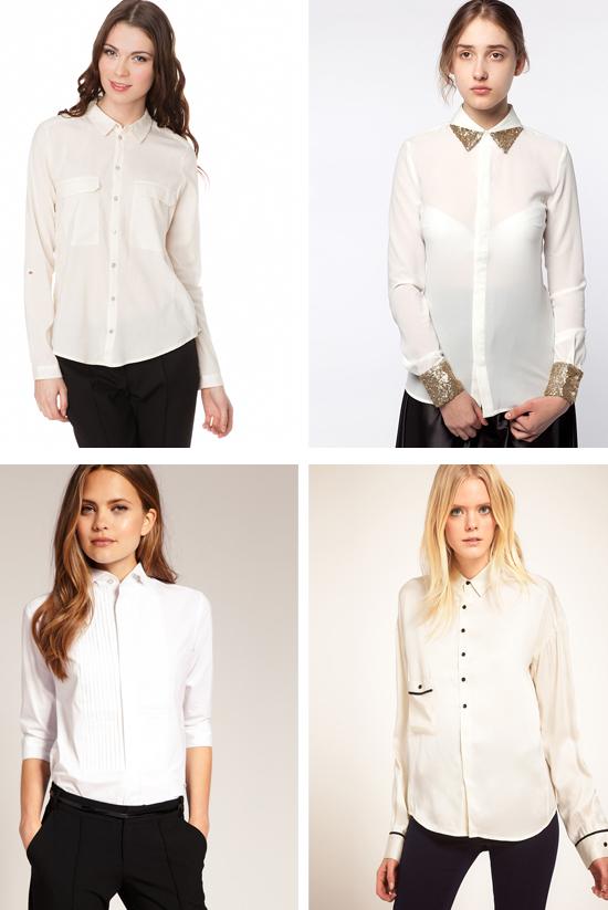 Стильная белая рубашка классического стиля фото