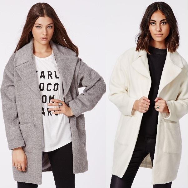 Кому носить светлое пальто-кокон фото