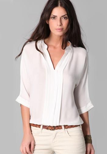 Летняя белая рубашка фото