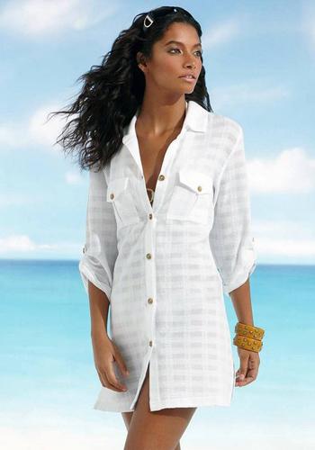 Шифоновая рубашка белого цвета фото