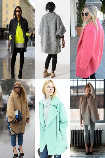 Свободное пальто-кокон фото