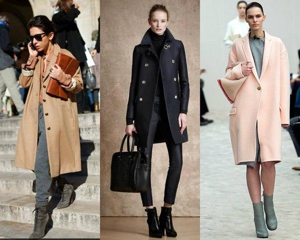 Модное пальто кокон фото