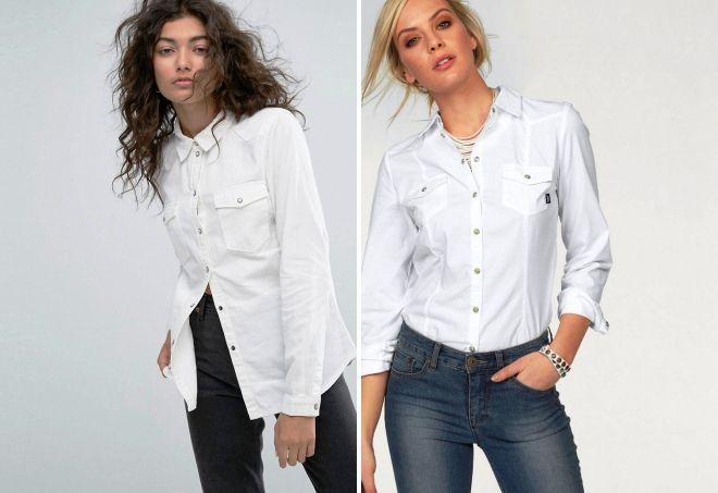 Как носить белую рубашку фото