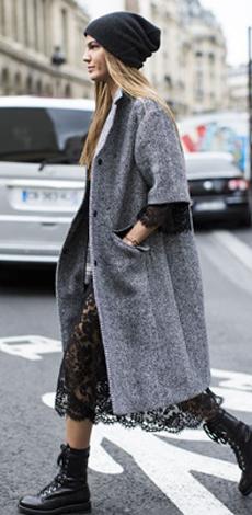 Молодёжное пальто-кокон фото