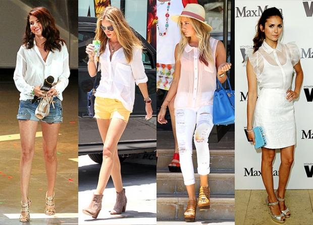 Разные фасоны летних рубашек фото
