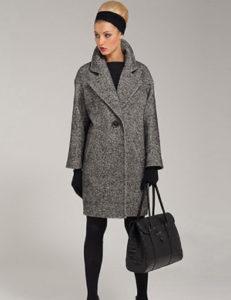 Короткое пальто-кокон фото