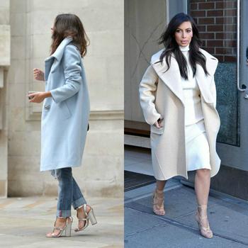 Пальто кокон до колена фото