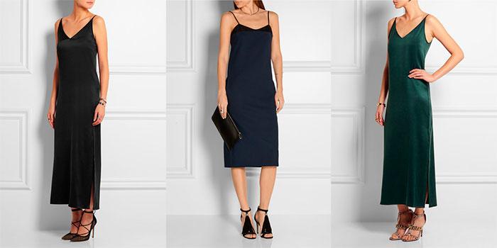Платье бельевого стиля под чёрные босоножки фото