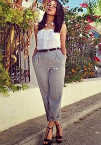 Серые брюки летом фото