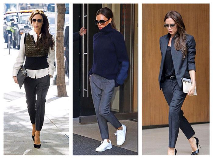 Кому следует носить серые брюки фото