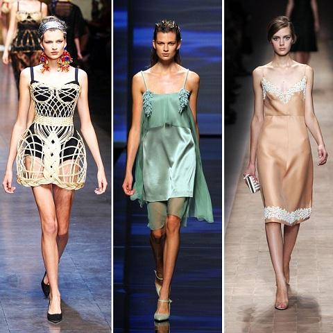 Стильные платья комбинации фото