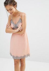 Короткое платье комбинация фото