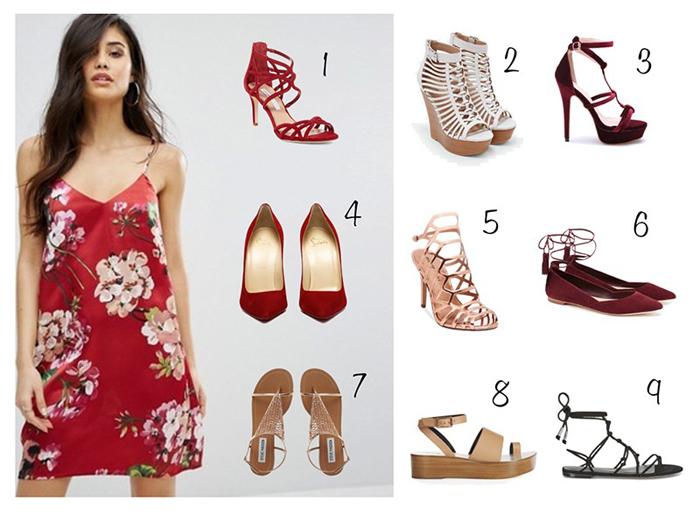 Варианты обуви под платье бельевого стиля фото