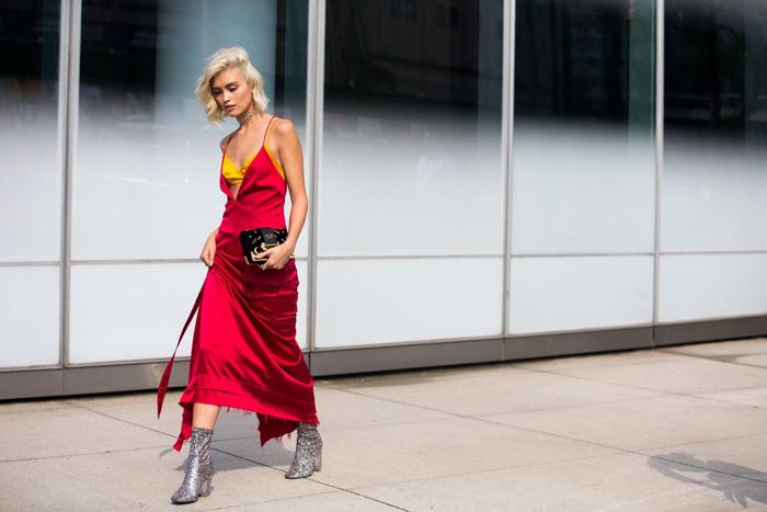 Яркое платье комбинация фото