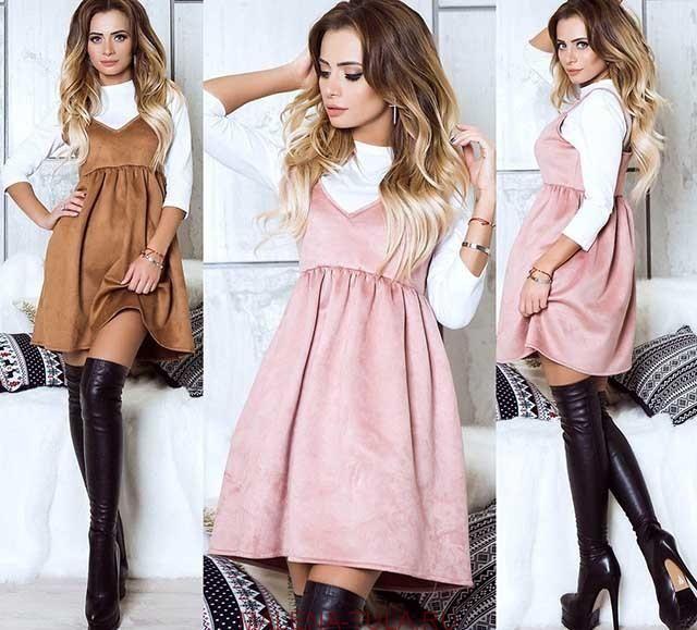 Коротенькое платье бельевого стиля фото