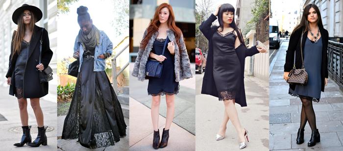 Разные фасоны платья-комбинации фото