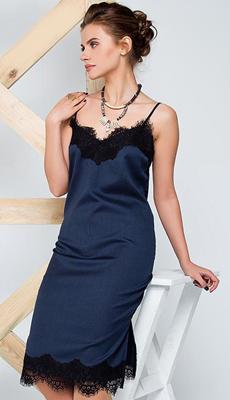 Платье комбинация синего цвета фото